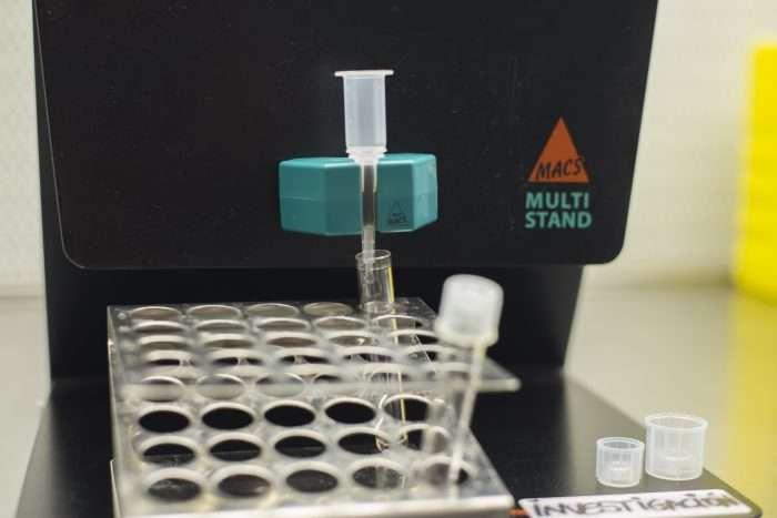 MACS -  probetas con espermatozoides sanos